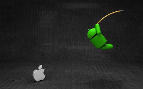 Android vs. Apple wallpaper