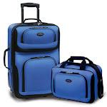 U.S. Traveler Us5600N 2-Piece Expandable Travel Luggage Set In Blue