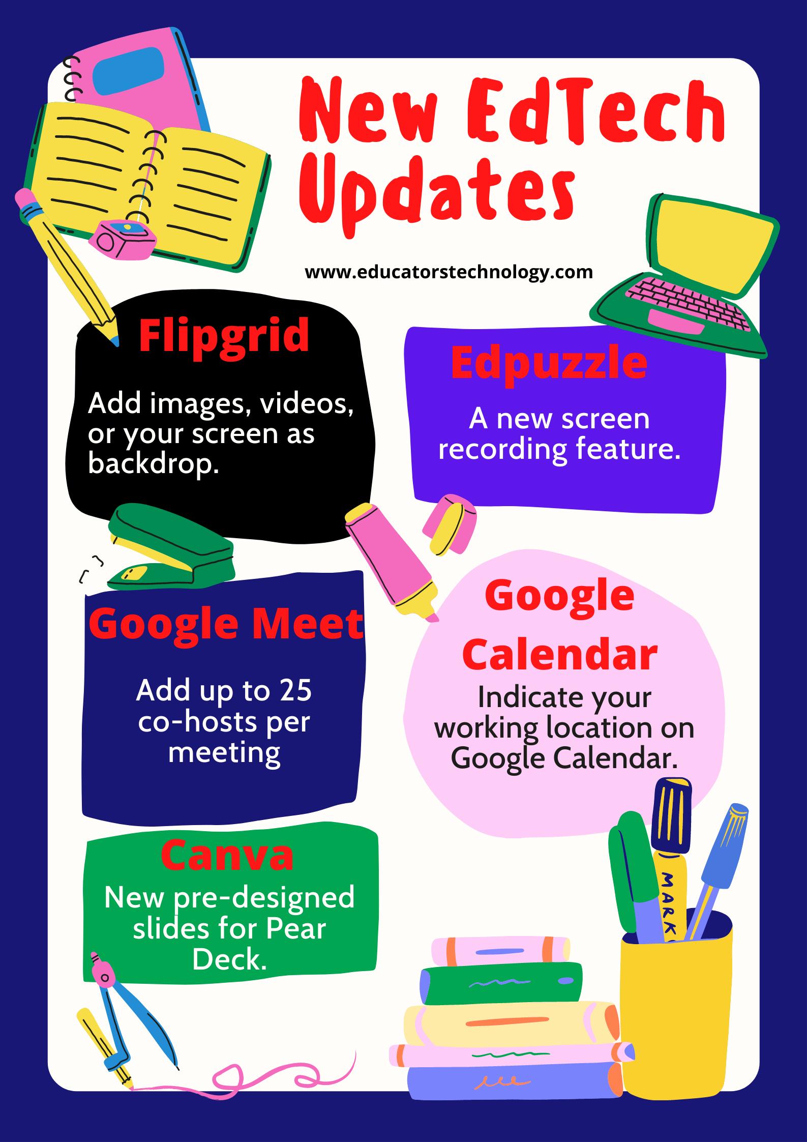 new edtech updates for teachers