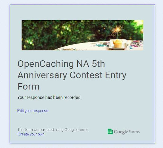 The OpenCaching NA 5th Anniversary contest: everything you need to know - OpenCaching North America Geocaching Blog