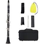 bb flat clarinet black bakelite silver keys woodwind instrument