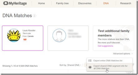 DMT Now Reads @MyHeritage DNA Segment Match Files « Louis Kessler's Behold Blog