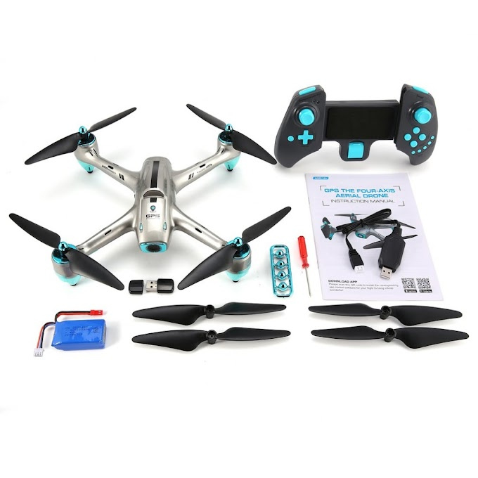 6957G 2.4G GPS Positioning 720P HD Wide Angle Camera FPV RC Drone Quadcopter Real-Time Follow Me One Key Return 360'Flips Model