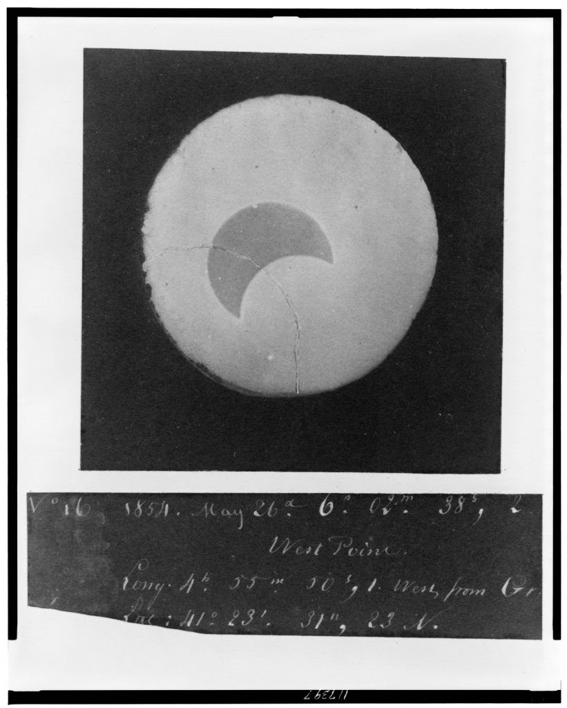 [Photograph of the solar eclipse of May 26, 1854, taken at West Point, no. 16] from Bartlett's photographs of solar eclipse of May 26, 1854, taken at West Point. //hdl.loc.gov/loc.pnp/cph.3c17397