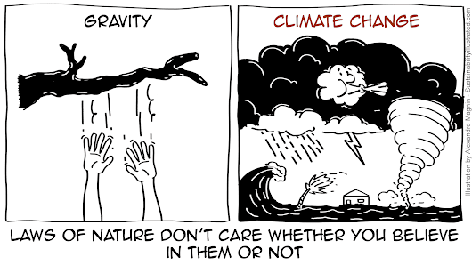 Climate change is like gravity: sustainability cartoon #1