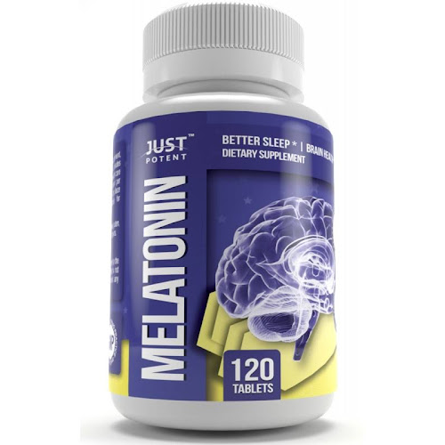 Pharmaceutical Grade Melatonin by Just Potent | 5mg Tablets | Better Sleep | Brain Health | 120 Count | Fast Acting and Non-Habit Forming Sleep Aid