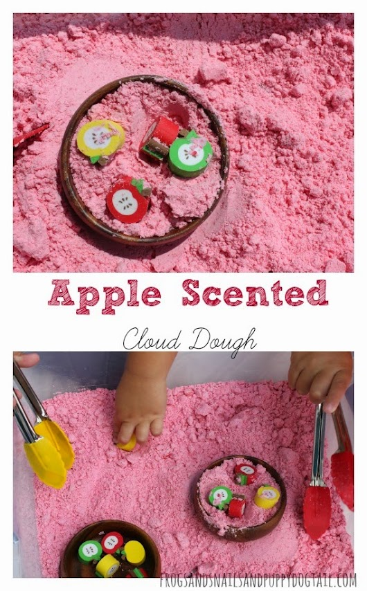 How to Make Apple Scented Cloud Dough - FSPDT