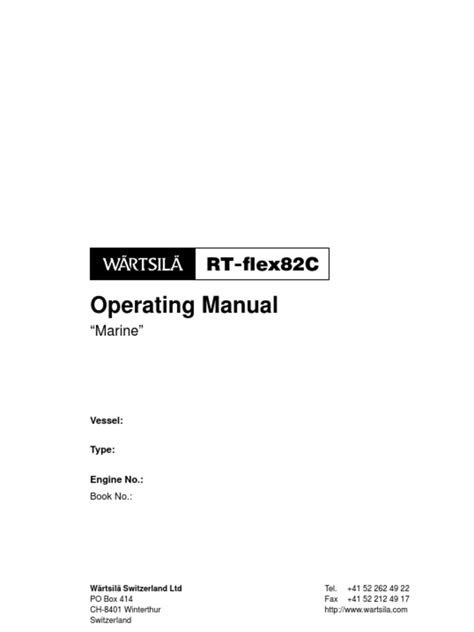 Wartsila (Sulzer) RT-FLEX82C -Operating Manual | Internal