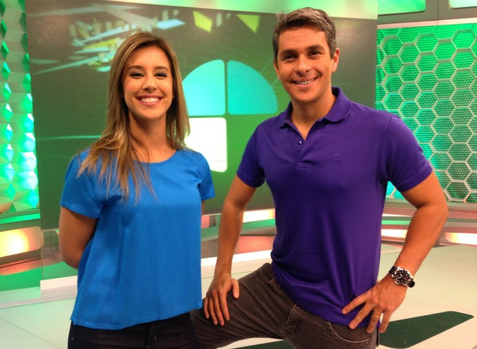 Cris Dias e Ivan Moré assumem Esporte Espetacular de domingo (Foto: Chris Mussi)