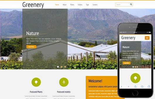 Greenery a Agriculture Category Flat Bootstrap Responsive Web Template