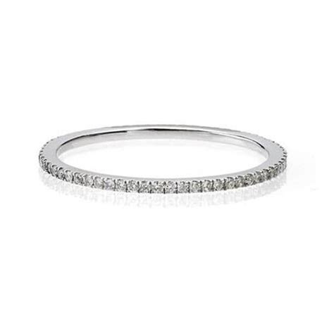 Micro Pave Diamond Band   Delicate Eternity Rings NYC