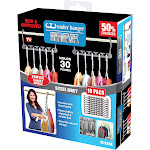 Wonder Hanger Max 10 Pack New & Improved as Seen on TV 3X The Closet Space Grey