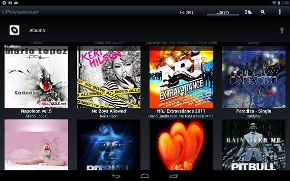 Power amp Los mejores reproductores de música para Android