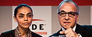 Marina Silva e seu então candidato a vice, o empresário Guilherme Leal, na campanha eleitoral de 2010 – Danilo Verpa - 17.mai.10/Folhapress