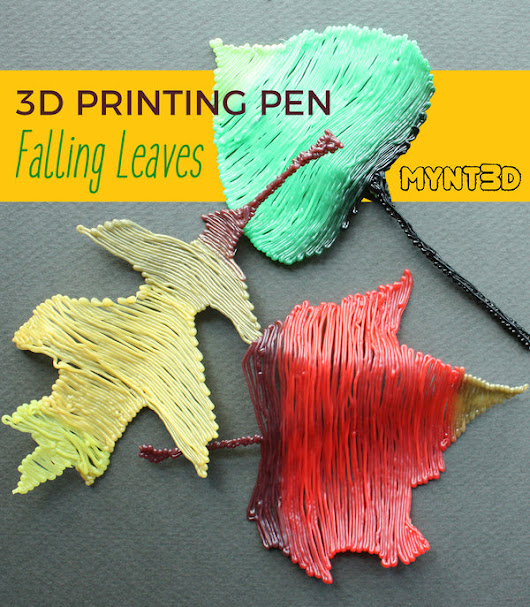 Fall Leaves 3D Pen Template and Tutorial
