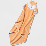 Baby Fox Hooded Towel - Cloud Island Orange