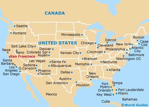 San Francisco On Usa Map | Time Zones Map