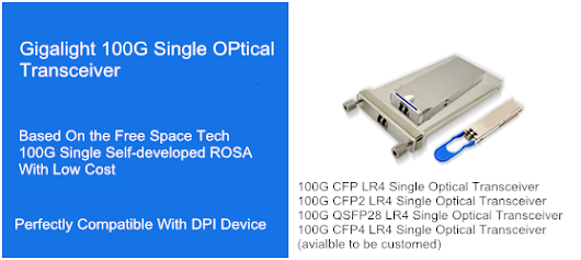 Gigalight 100G Single Optical Transceiver Has Been Admitted By Domestic DPI Manufacturers