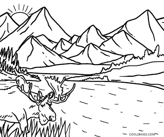 Nature Coloring Pages Coloring Page For Kids Kids Coloring Coloring Pages