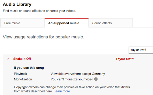 'Viewable everywhere except Germany': Mehr Transparenz bei YouTubes Content ID |