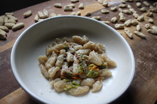 Coming home to cavatelli and zucchini flowers