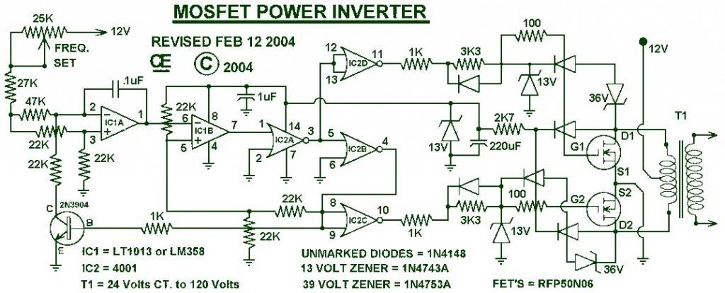 Secret Diagram: This is Circuit diagram inverter 1000w
