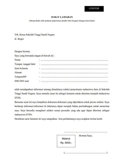 5 Folio Bergaris Contoh Surat Lamaran Kerja 2020 Tulis Tangan Galeri Berkas