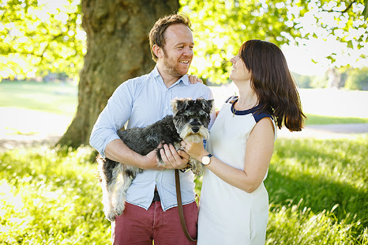 Katie, Rich (and Otto) – London engagement photography