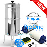"""ProOne GRAVITY Polished water filter System(Traveler+,Big+) ProOne BIG+ / 2-ProOne G2.0 7"""" filters"""
