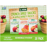 Sensible Foods Dried Fruit 20-Ct. Crunch Dried Snacks Apple Variety Pack One-Size