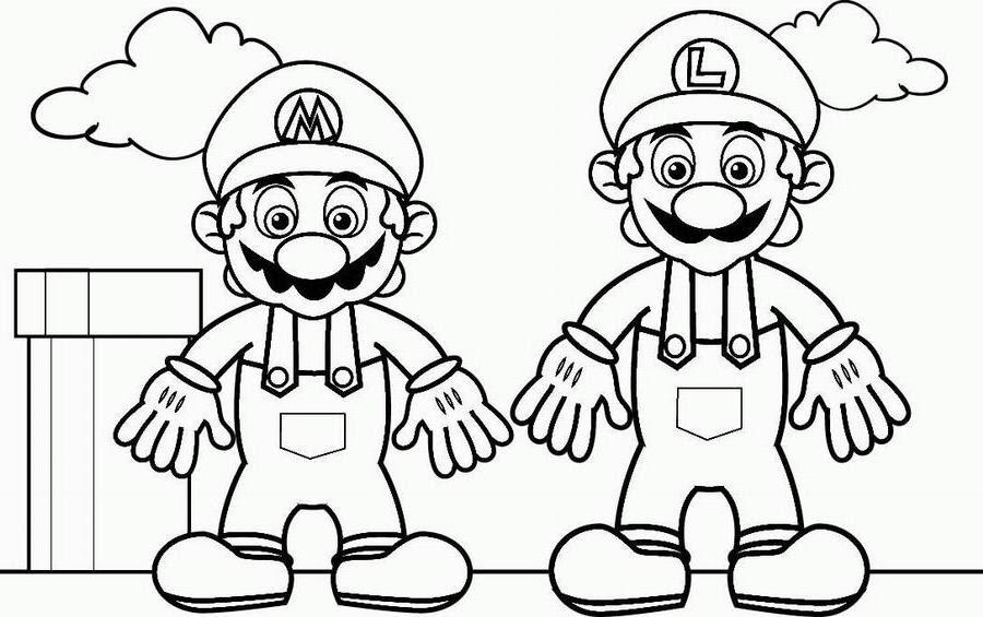 Coloriage Mario Et Luigi à Imprimer Coloriage