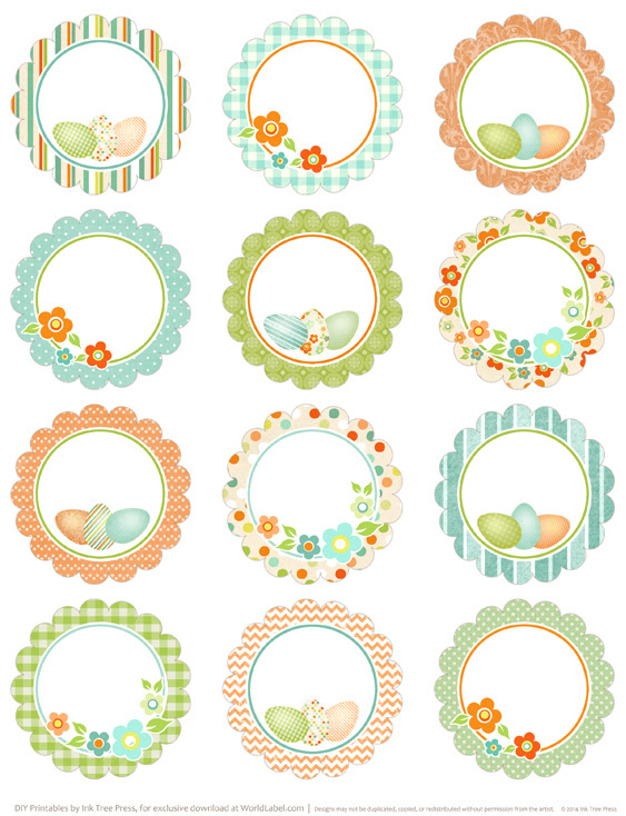 Round Easter Labels