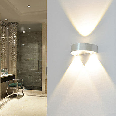 Modern 3w Led Wall Sconce Indoor Hallway Up Down Spot Light Aluminum Decorative Lighting Led Integrated Heparts