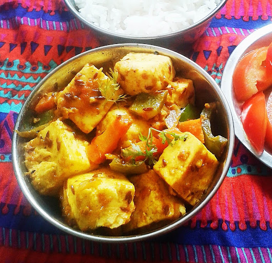 Paneer Jalfrezi - Indian cottage cheese with vegetables