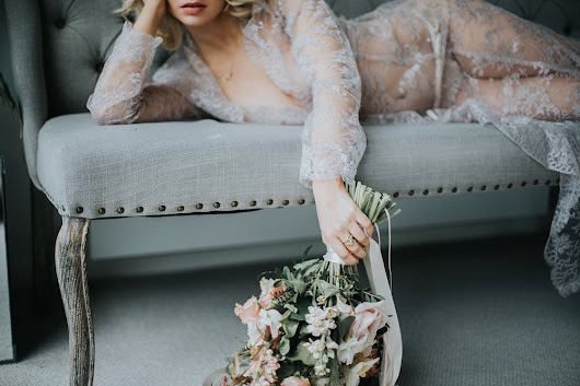 Shell Belle Inspired Ethereal Bridal Boudoir: {In the Name of Love Photography}