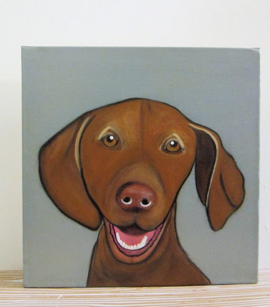 Custom Dog Portrait Choose your Size 8x8 and by redtilestudio