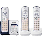 Panasonic - KX-TGD563A Link2Cell DECT 6.0 Expandable Cordless Phone System with Digital Answering System - Navy blue