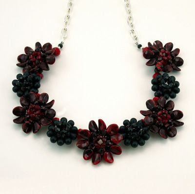 Bead Jewelry PDF Pattern, Flower Petal Necklace