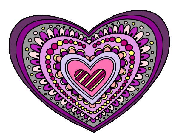 Dibujo De Mandala Corazón Para Colorear Fondos De Pantalla