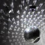 "TheLAShop 12"" Mirror Disco Ball Complete Kit Multi-Color Optional, White"
