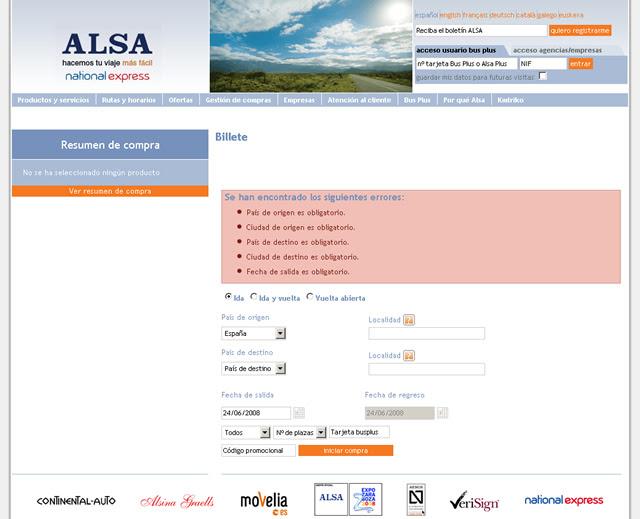 Error al usar Firefox3 en la página web de ALSA