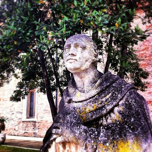 A melancholic statue