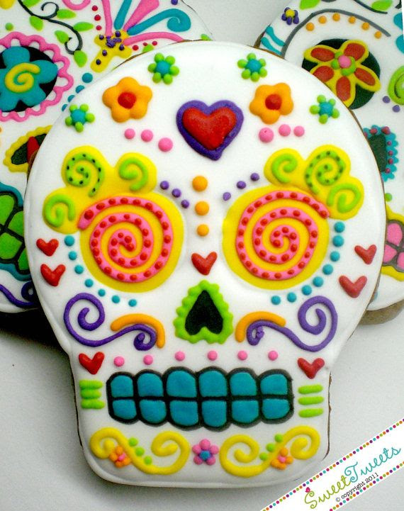 Sugar skull cookies, $36 for a dozen, from SweetTweetsOnline.