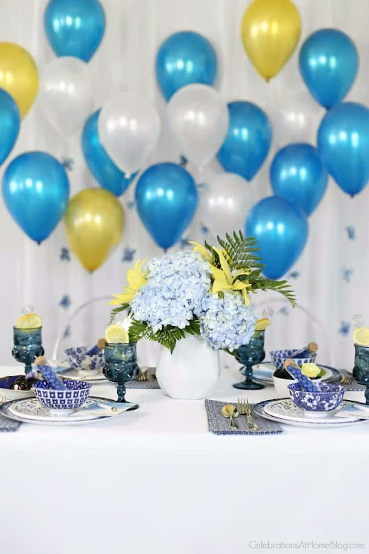 Something Blue Bridal Brunch - Celebrations at Home