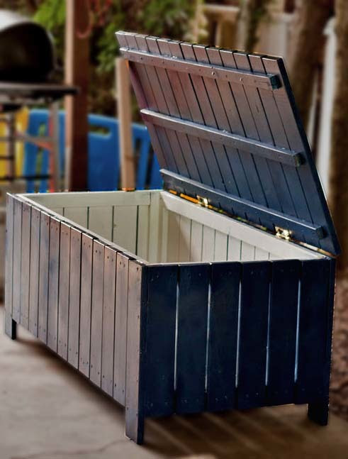 Ana White   Build a Outdoor Storage Bench   Free and Easy DIY ...