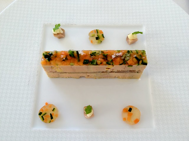 Restaurant Gabriel, Bordeaux - Foie Gras with Sturgeon and Vegetables in Gelee