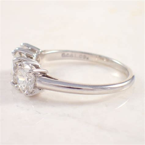 Platinum Diamond Engagement Ring   Attos Antique & Estate