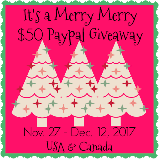 Paypal $50 Giveaway Nov 11 - Dec 12, 2017 | Forever Green Mom