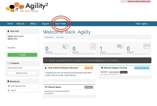 How to use Agility Ticket Support System - Agility Squared