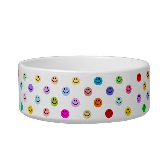 Rainbow Multicolor Smiley Face Bowl